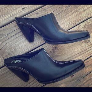 EUC Charlie Horse Lucchese Slip On mules size 8